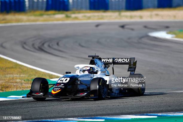 Laszlo Toth of Hungary and Campos Racing drives during day two of Formula 3 Testing at Circuito de Jerez on May 13, 2021 in Jerez de la Frontera,...