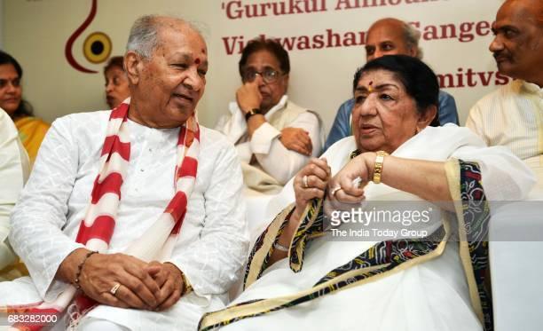 Lata Mangeshkar during the press conference to announce the launch of Gurukal Vishwashanti Sangeet Kala Academy in Mumbai