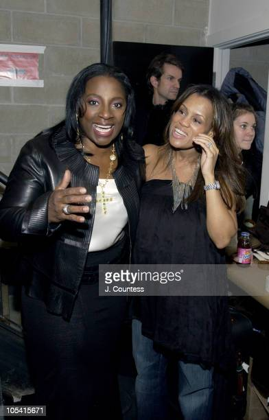 LaTanya Richardson and Kai Milla during Olympus Fashion Week Fall 2005 Kai Milla Front Row and Backstage at The Newspace The Newspace in New York...