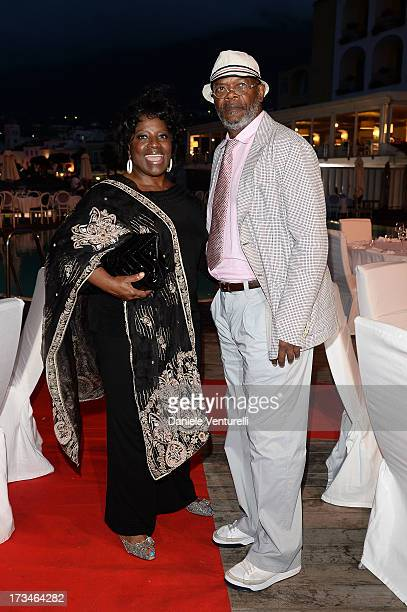 LaTanya Richardson and Samuel L Jackson attend Day 2 of the 2013 Ischia Global Fest on July 14 2013 in Ischia Italy