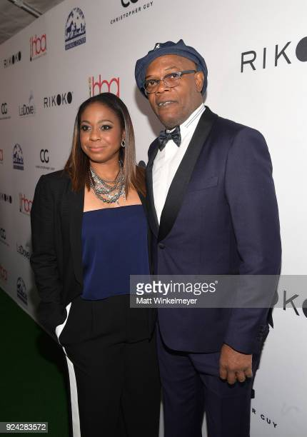 LaTanya Richardson and Samuel L Jackson attend the 4th Hollywood Beauty Awards at Avalon Hollywood on February 25 2018 in Los Angeles California