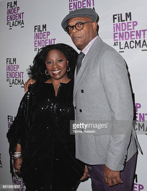 LaTanya Richardson and Samuel L Jackson attend the premiere of Magnolia Pictures 'I Am Not Your Negro' at LACMA on January 12 2017 in Los Angeles...