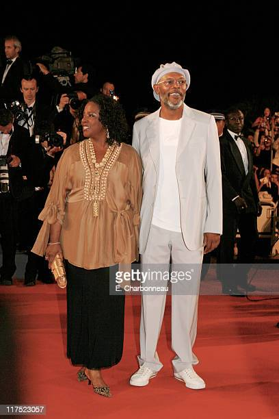 LaTanya Richardson and Samuel L Jackson during 20th Century Fox Premiere of 'XMen The Last Stand' at Palais des Festivals in Cannes France