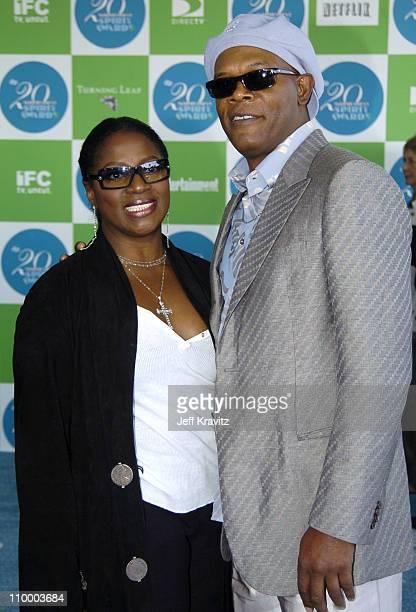 LaTanya Richardson and Samuel L Jackson host during 20th IFP Independent Spirit Awards Arrivals at Santa Monica Beach in Santa Monica California...
