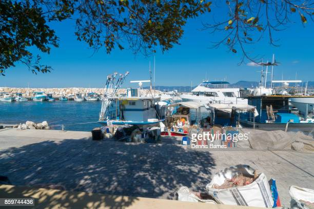 latchi, harbour,  marina, near polis, cyprus - latchi ストックフォトと画像