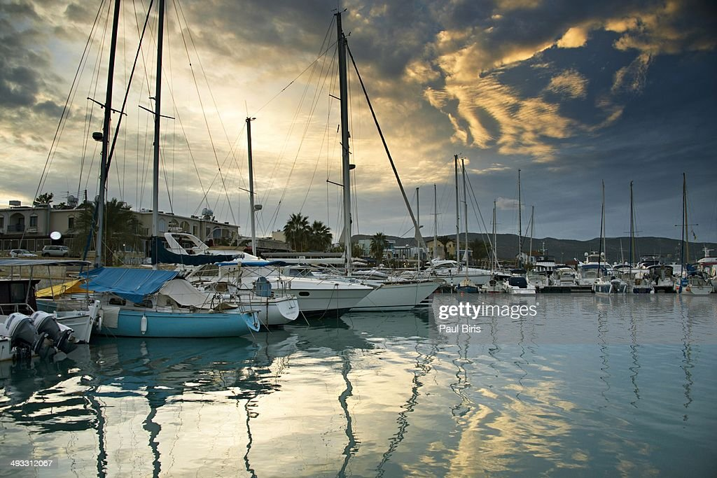 Latchi Village Harbour : Stock Photo