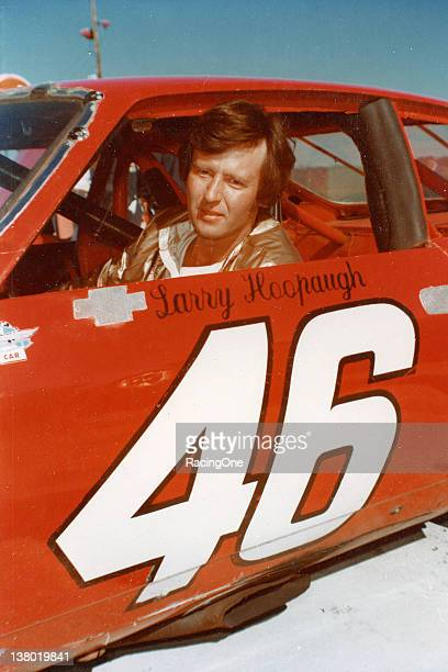 Larry Hoopaugh of Charlotte NC sits in his NASCAR Baby Grand racer before an event at North Wilkesboro Speedway in the late 1970s Hoopaugh was the...