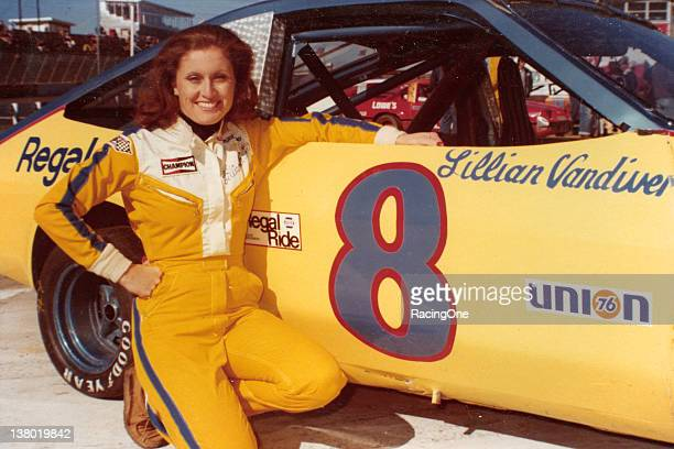 Lillian Vandiver sister of NASCAR Cup driver Jim Vandiver did a little racing herself in the late 1970s posing here with a NASCAR Baby Grand car at...