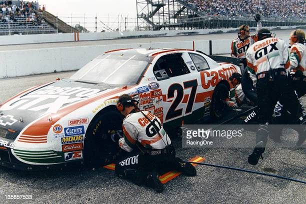 Casey Atwood makes a pit stop during a NASCAR Busch Grand National race circa 1999