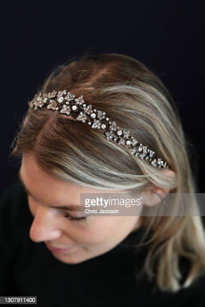"""Late 19th century diamond tiara belonging to Edwina Mountbatten, Countess Mountbatten of Burma during a photocall for """"The Family Collection of..."""
