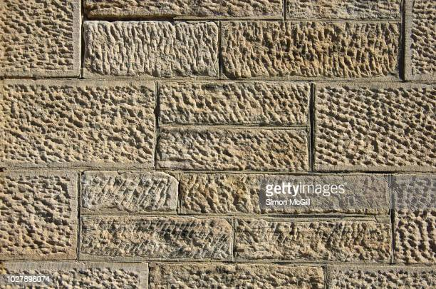 late 19th century sandstone surrounding wall - sandstone wall stock pictures, royalty-free photos & images