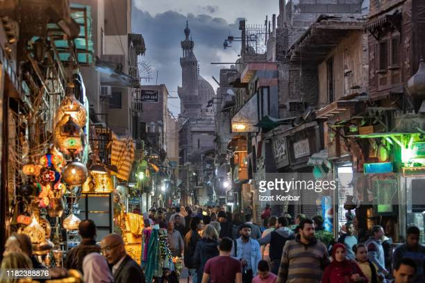 late afternoon al moaz street, cairo egypt - egypt stock pictures, royalty-free photos & images