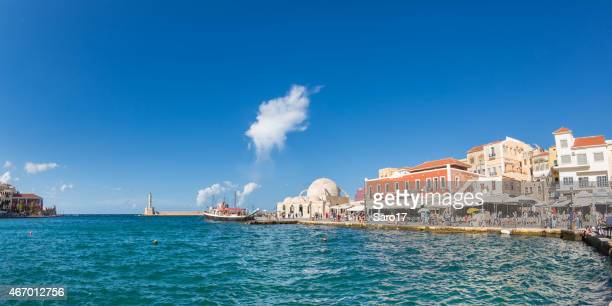 Late afternoon at Chania harbour, Crete, Greece