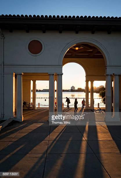 late afternoon at lake merritt - oakland california stock pictures, royalty-free photos & images