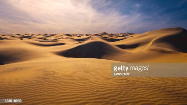 late afternoon at mesquite dunes - sand dune stock pictures, royalty-free photos & images