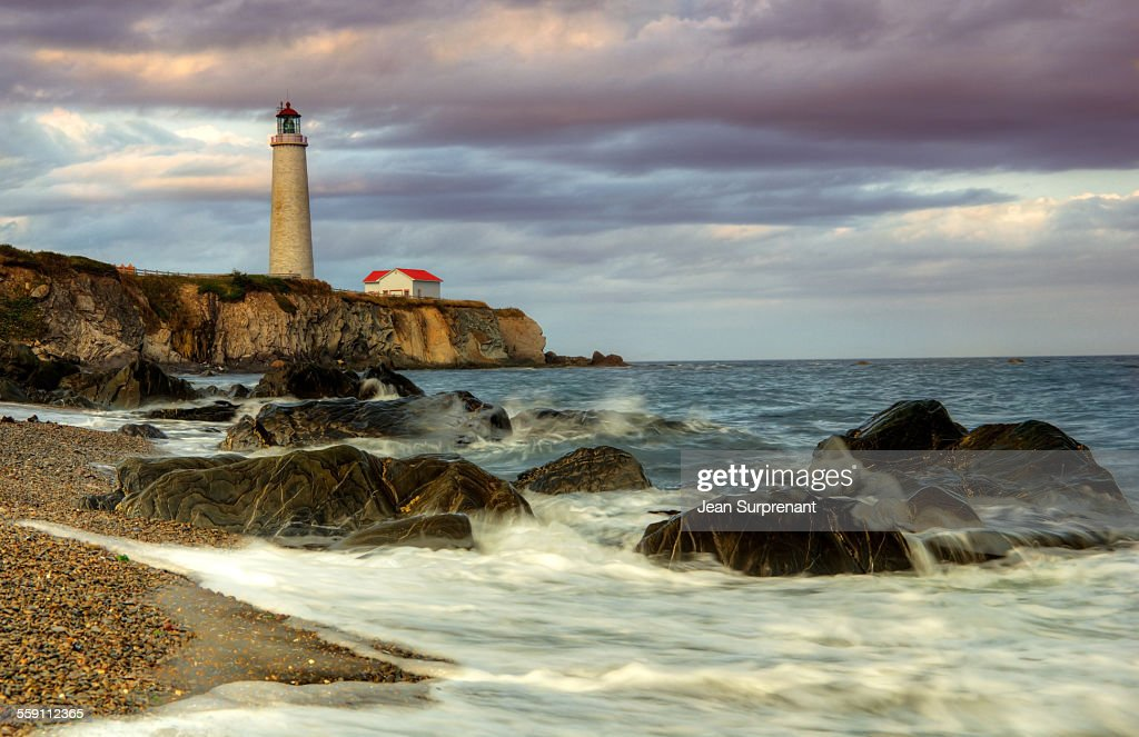 Late afternoon Cap-des-Rosiers's Lighthouse : Stock Photo