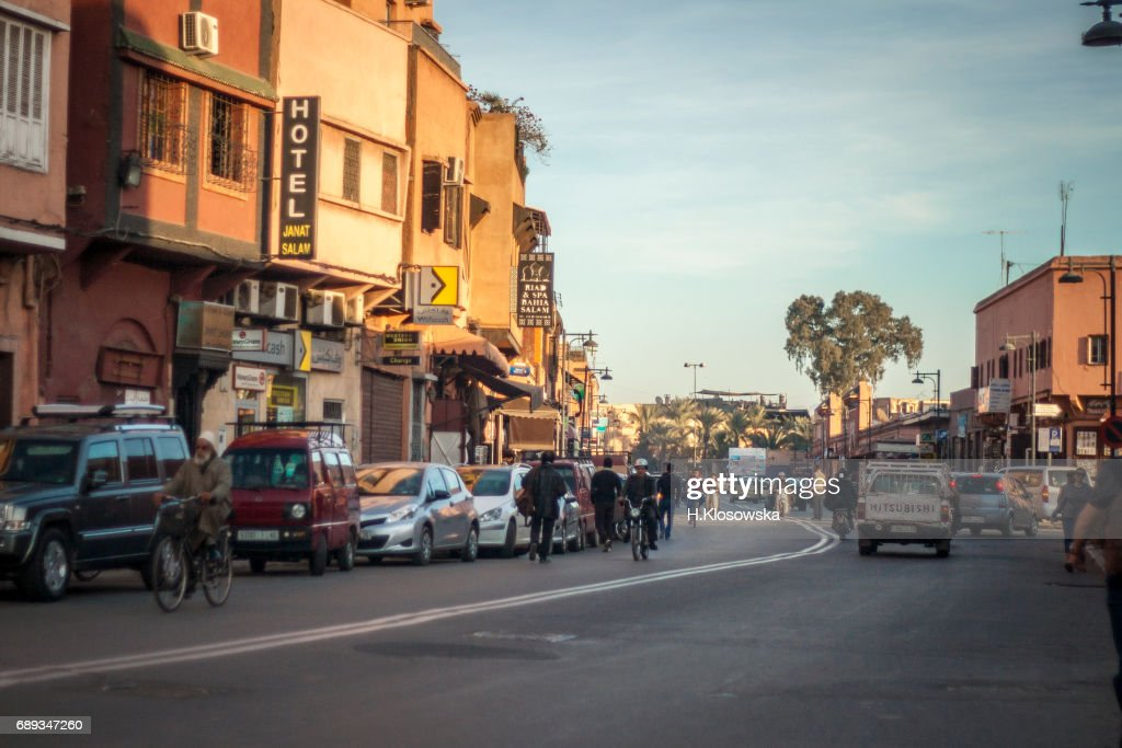 Late afternoon in Marrakesh : Stock Photo