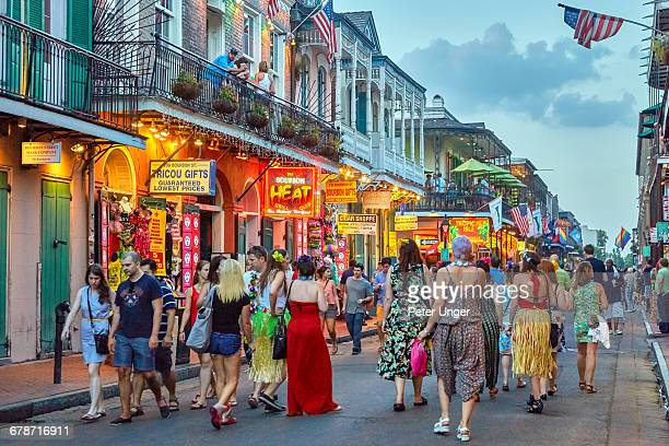 Late afternoon on Bourbon street,French Quarter