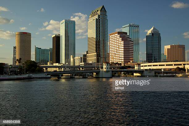 late afternoon view of tampa, florida, usa city skyline - tampa stock pictures, royalty-free photos & images