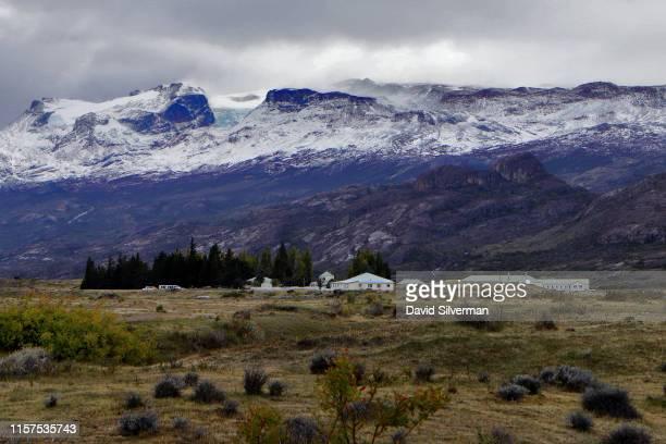 A late autumn view greets visitors to the Estancia Cristina homestead on April 4 2019 in the Los Glaciares National Park in Santa Cruz province...