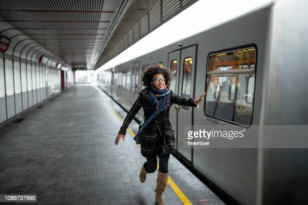 late for the train - urgency stock pictures, royalty-free photos & images
