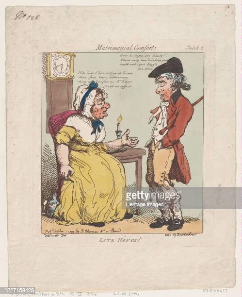 Late Hours October 1 1799 Artist Thomas Rowlandson