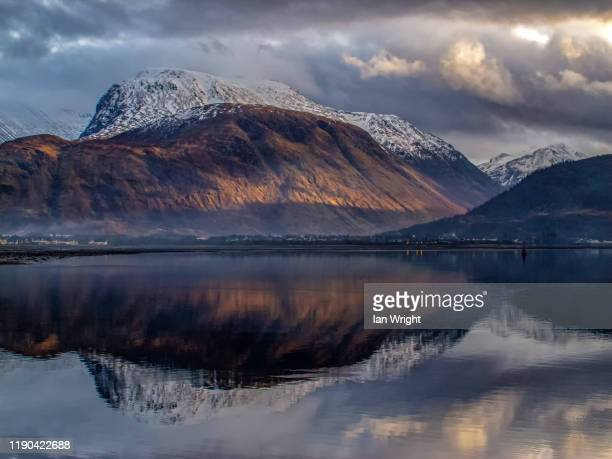 late light on ben nevis #1 - moment of silence stock pictures, royalty-free photos & images
