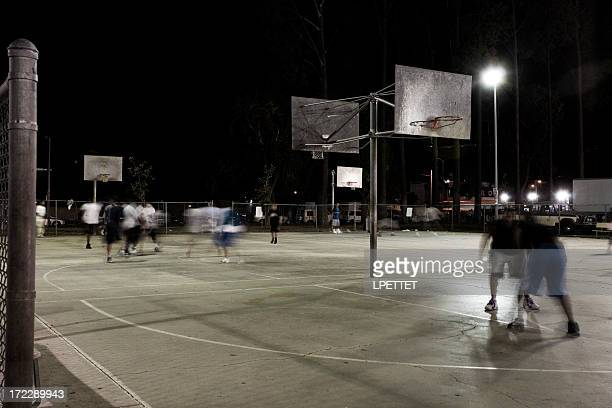 Late Night Basketball In Los Angeles, California
