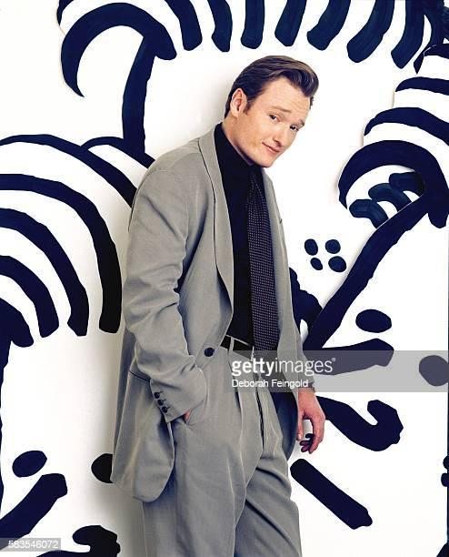 Late Night Host Conan O'Brian poses for a portrait at NBC studios in November 1993 in New York New York