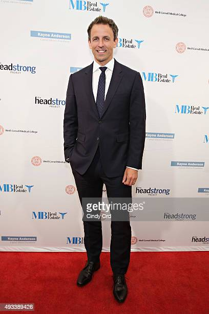 Late Night host Seth Meyers attends The Headstrong Project's 3rd annual Words of War event at One World Trade Center on October 19 2015 in New York...