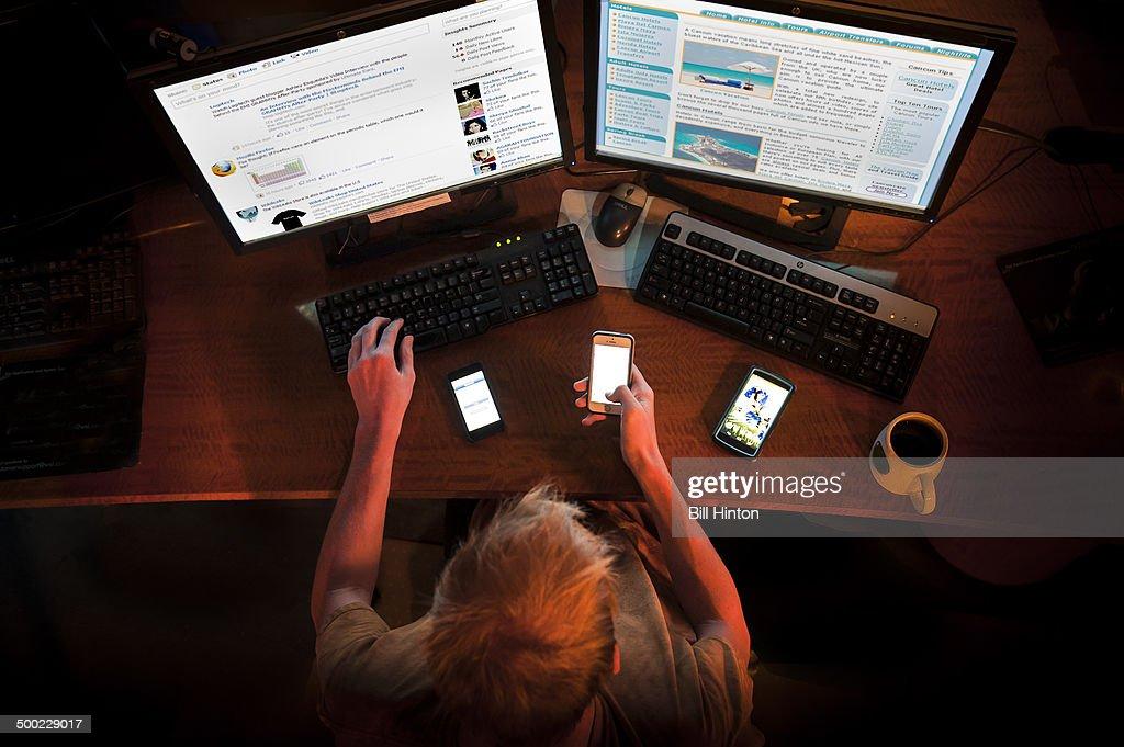 Internet Addiction : News Photo