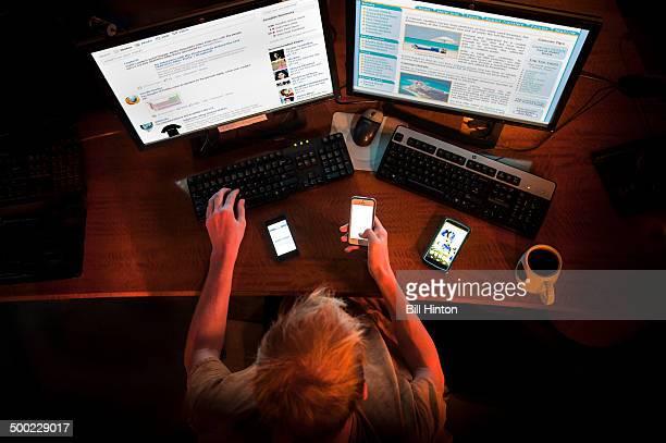 Late night internet addiction