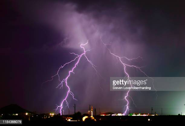 a late night lightning storm in arlington during the 2012 monsoon season, arizona, united states of america, north america - united_states_senate_election_in_virginia,_2012 stock pictures, royalty-free photos & images