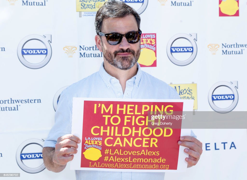 Late Night TV Host Jimmy Kimmel arrives for the 8th Annual L.A. Loves Alex's Lemonade at UCLA Royce Quad on September 9, 2017 in Los Angeles, California.