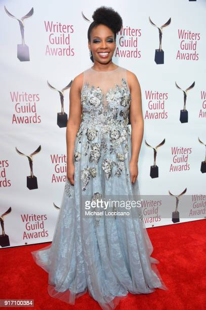 Late Night with Seth Meyers Amber Ruffin attends the 70th Annual Writers Guild Awards New York at Edison Ballroom on February 11 2018 in New York City