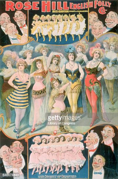 Late Nineteenth Century Theater Poster for Rose Hill English Folly Co