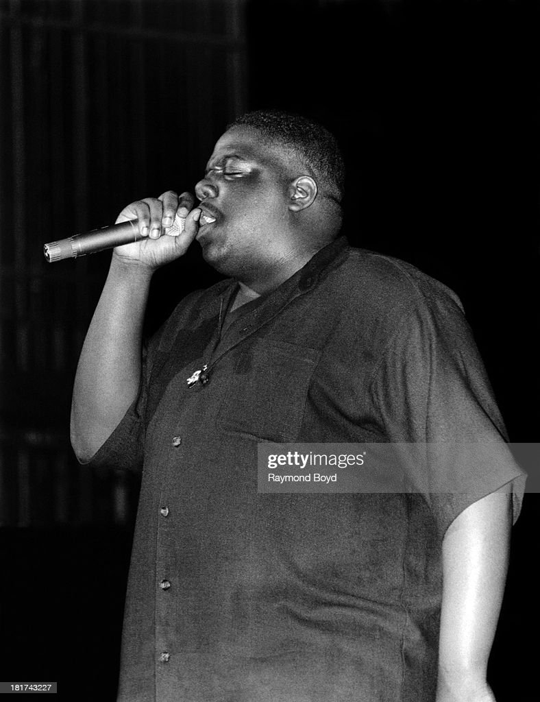Late rapper Notorious B.I.G., performs at the Riviera Theater in Chicago, Illinois in SEPTEMBER