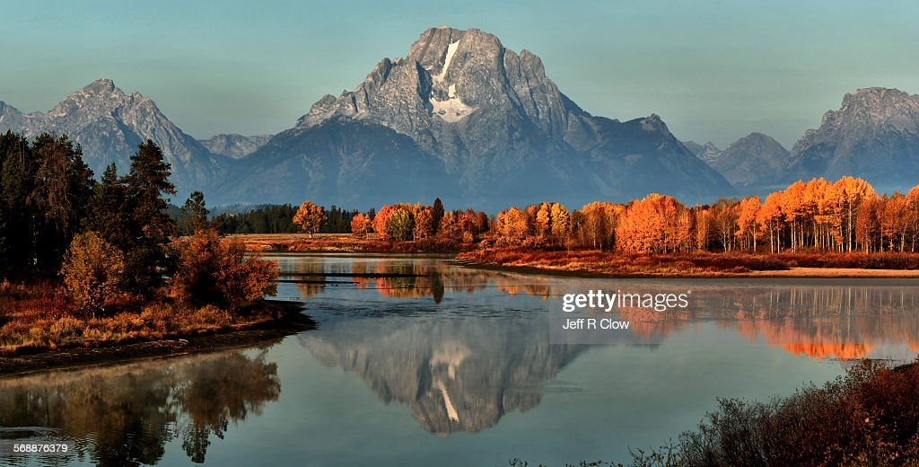 Late September at Oxbow Bend : Stock Photo