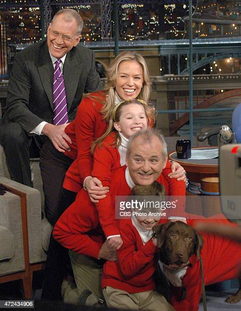 Late Show host David Letterman joins actor Bill Murray and his rented family and dog for a Christmas card photo on the Late Show with David Letterman...