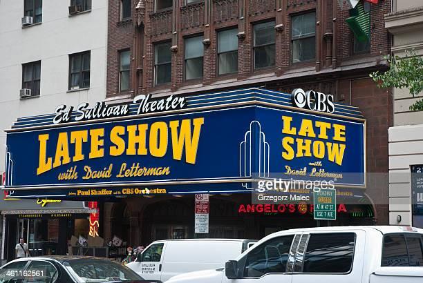 遅れた。デビッド・レターマン・ショー - ニューヨーク郡 ストックフォトと画像