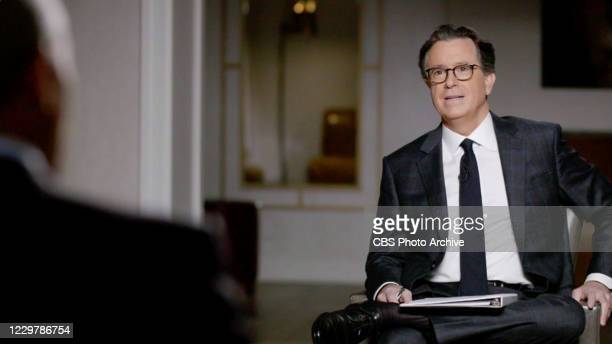 Late Show with Stephen Colbert and guest Barack Obama during Tuesdays November 24, 2020 show. Image is a screen grab.