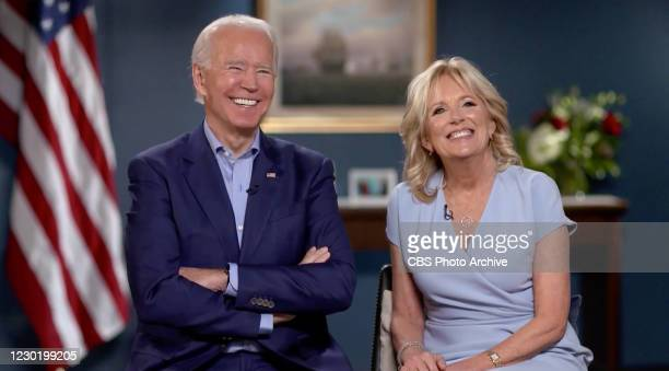 Late Show with Stephen Colbert and guests President-elect Joseph R. Biden and Dr. Jill Biden during Thursdays December 17, 2020 show. Image is a...