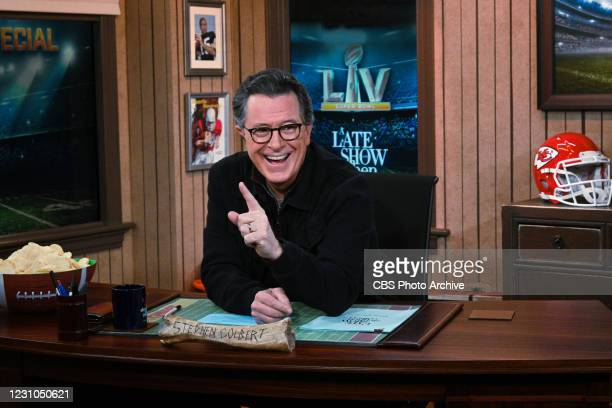 Late Show with Stephen Colbert during Sunday's February 7, 2021 Super Bowl Special.