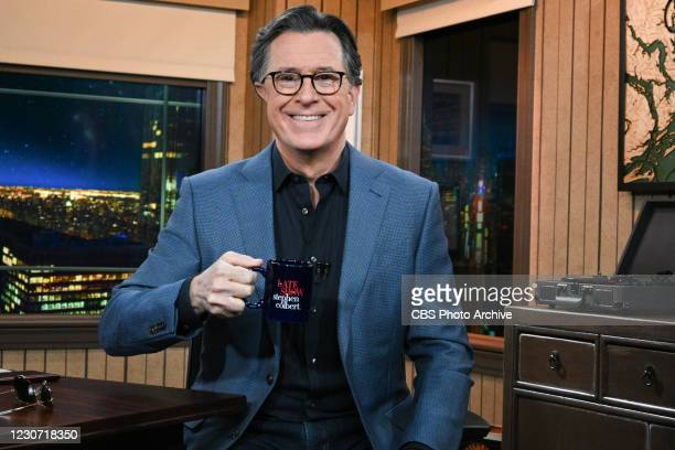 Late Show with Stephen Colbert during Wednesdays January 20 2021 live show.