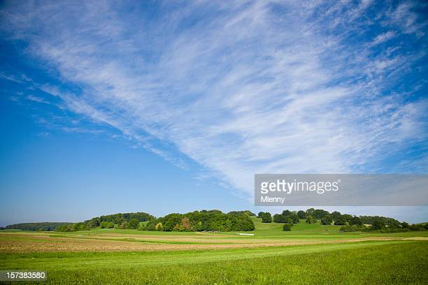 spät sommer landschaft - mlenny stock-fotos und bilder