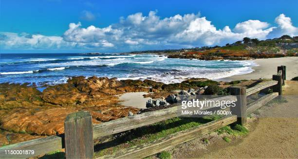 late winter seascape - monterey peninsula stock pictures, royalty-free photos & images