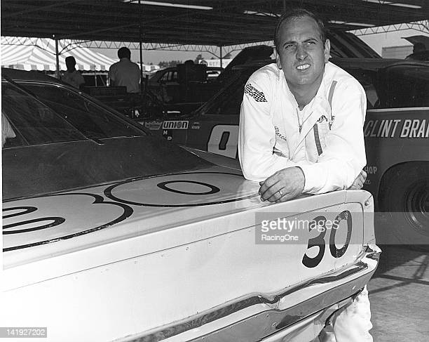 Dave Marcis in the garage area at a NASCAR Cup race early in his career. Marcis drove the No. 30 Dodges owned by himself and by Milt Lunda during the...