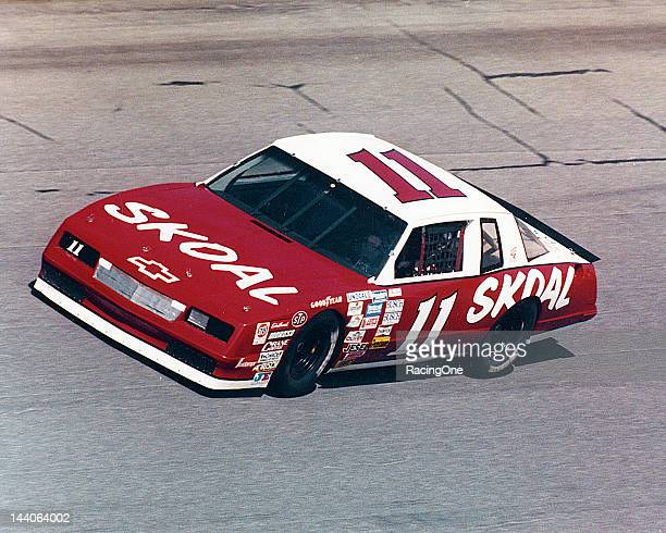 Jack Ingram guides his Skoal Chevrolet Monte Carlo around the high banks of Daytona International Speedway Ingram was a regular competitor in the...