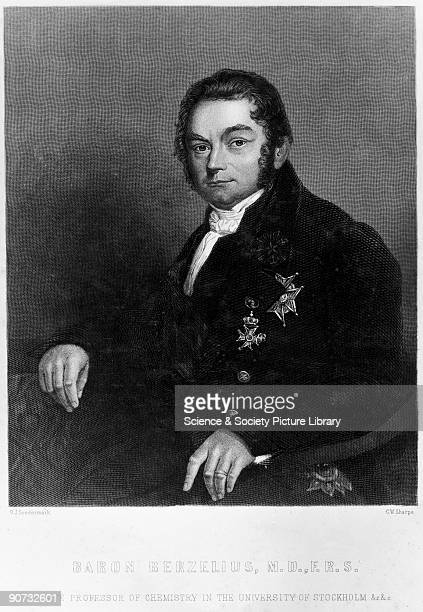 Later engraving by C W Sharpe after an 1843 painting by Olof Johan Soedermark of Berzelius Berzelius devised the first consistently accurate method...