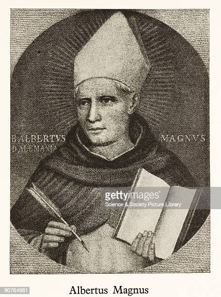 Later engraving from a painting made by Fra Angelico in the early 15th century Albertus Magnus also known as Saint Albert the Great and the Universal...